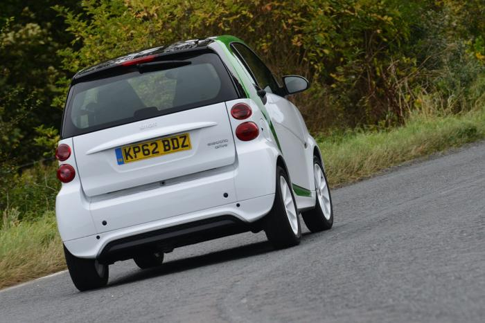 Smart ForTwo Electric Drive rear view