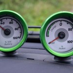 Smart ForTwo Electric Drive gauges showing state of charge