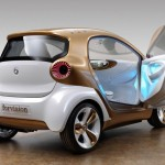 Smart Electric Drive showing interior lights concept